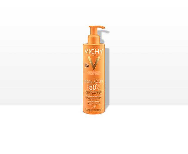 vichy-ideal-soleil-mlijeko-protiv-priljepljivanja-pijeska-na-kozu-spf-50-mlijeko-za-suncanje-mlijeko-protiv-sunca-krema-za-suncanje