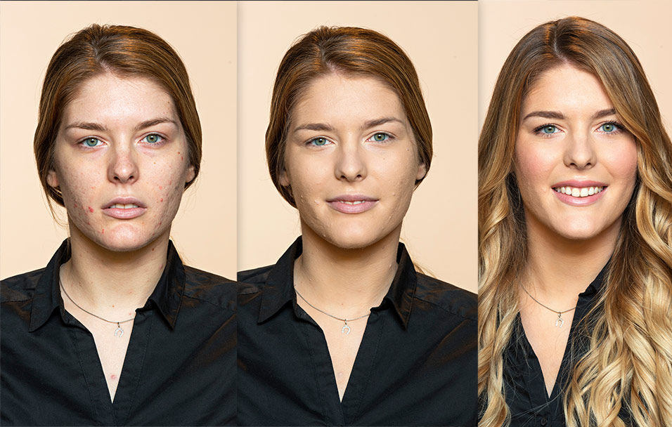 Monikina transformacija Dermablend 3D Correction puderom