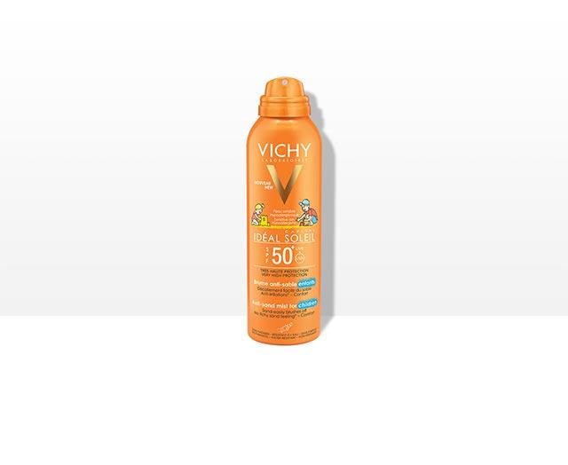 vichy-ideal-soleil-djecji-sprej-protiv-priljepljivanja-pijeska-na-kozu-spf-50-+-krema-protiv-sunca-krema-za-djecu-sunce-visoka-zastita-krema-za-suncanje-protiv-pijeska